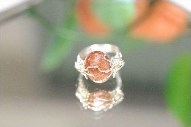 天然石ワイヤーアクセサリー リング 指輪